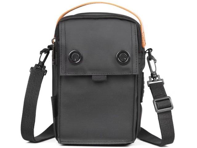 کیف رودوشی USB دار پوسو مدل G222-B Mobile Bag 6 inch بهمراه قلم لمسی دوکاره