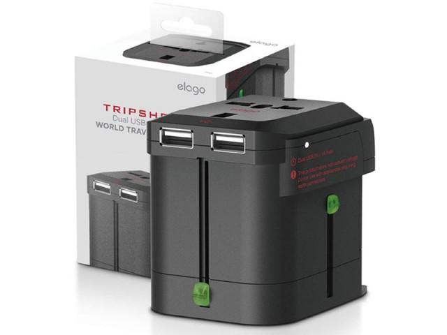 شارژر دیواری و آداپتور جهانی الاگو مدل TR-ADAP-USB