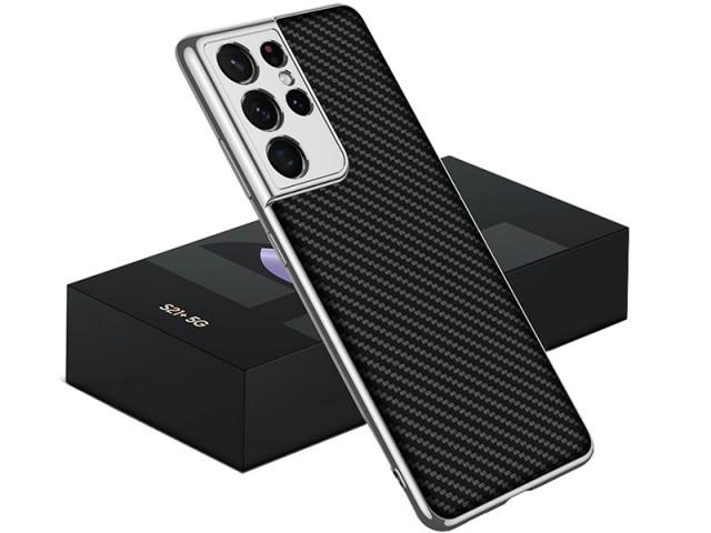 کاور اورجینال لاکچری کربنی GKK مدل Luxury Carbon Fiber Case مناسب برای گوشی موبایل سامسونگ S21 Ultra