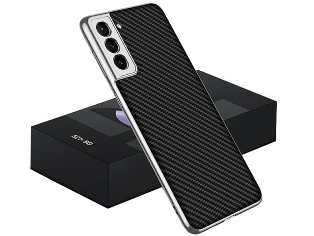 کاور اورجینال لاکچری کربنی GKK مدل Luxury Carbon Fiber Case مناسب برای گوشی موبایل سامسونگ S21 Plus
