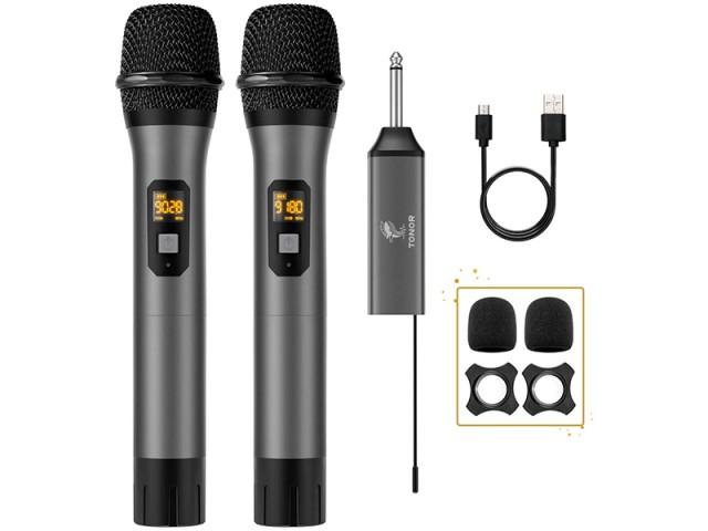 میکروفون بیسیم دوتایی تونور مدل TW-630 Wireless Microphone