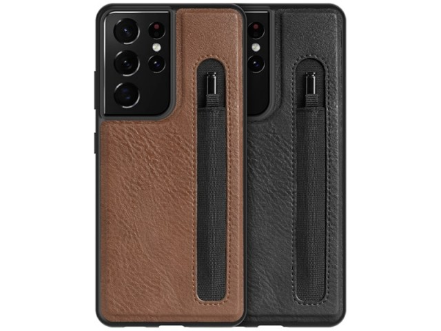 کاور چرمی اورجینال نیلکین مدل Aoge Leather Case مناسب برای گوشی موبایل سامسونگ S21 Ultra