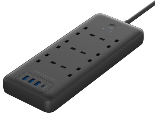 چند راهی برق هوشمند پاورولوژی مدل Multi-Port Smart Power Strip PD 30W