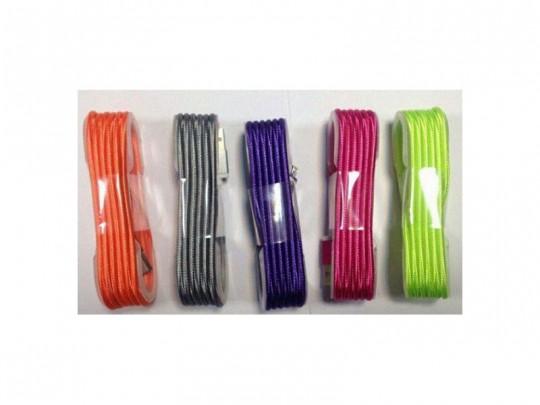 کابل کنفی رنگی گوشیهای اندرویدی micro-USB