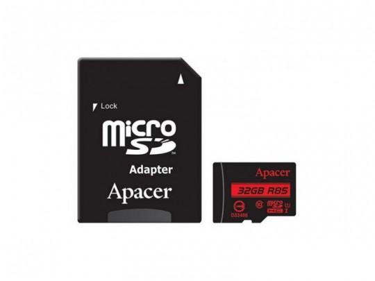 کارت حافظه 32 گیگابایت microSDHC اپيسر کلاس 10 استاندارد UHS-I U1 سرعت 85MBps به همراه آداپتور