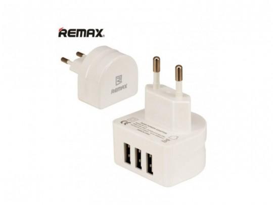 شارژر دیواری 3 پورت USB  ریمکس مدل RP-U31
