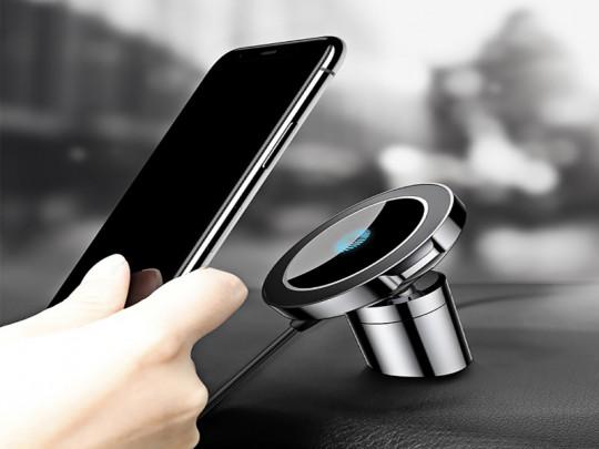 پایه نگهدارنده و شارژر بی سیم گوشی موبایل بیسوس مدل BIG EARS