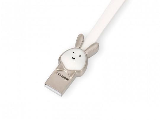 کابل شارژ و انتقال داده USB to Lightning راک طرح خرگوش مدل RCB0504