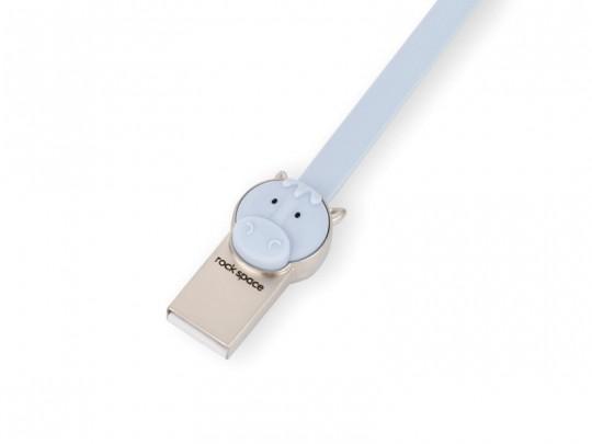 کابل شارژ و انتقال داده USB to Micro USB راک طرح اسب مدل RCB0529
