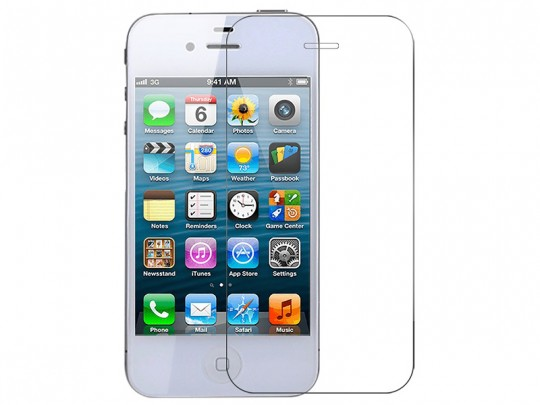 محافظ صفحه نمايش شيشه ای مدل Tempered مناسب برای گوشی موبايل اپل آیفون 4