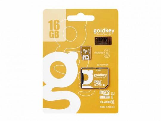 کارت حافظه 16 گیگابایت microSDHC  گلدکی کلاس 10 استاندارد UHS-I U1 سرعت 85MBps به همراه آداپتور