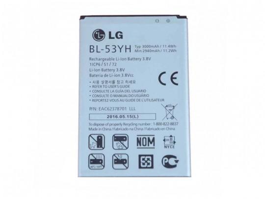 باتری موبایل مدل BL-53YH با ظرفیت 3000mAh مناسب برای گوشی موبایل ال جی G3