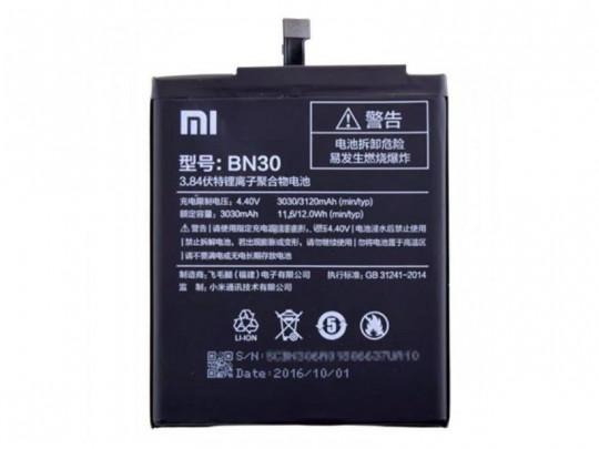 باتری موبایل شیائومی مدل BN30 مناسب برای گوشی Redmi 4A
