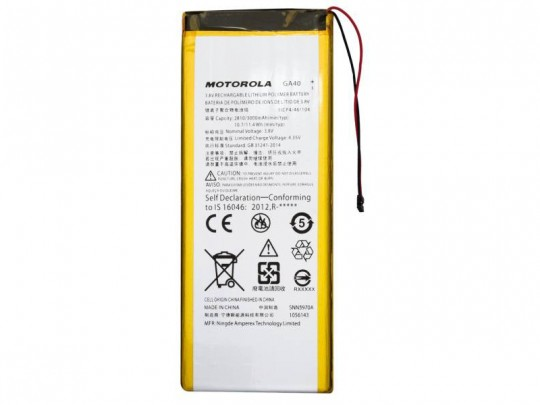باتری موبایل موتورولا مدل GA40 با ظرفیت 3000mAh مناسب برای گوشی موبایل موتورولا Moto G4 Plus