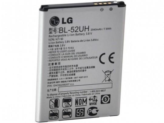 باتری موبایل ال جی مدل BL-52UH با ظرفیت 2040mAh مناسب برای گوشی موبایل ال جی L70