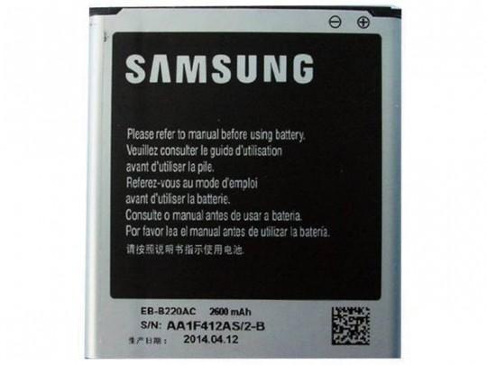باتری موبایل سامسونگ گالکسی مدل EB-B220AC با ظرفیت 2600mAh مناسب برای گوشی موبایل سامسونگ Grand 2