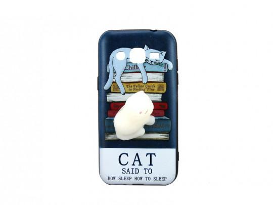 کاور طرح گربه2 نرمالو مناسب برای گوشی سامسونگ j2