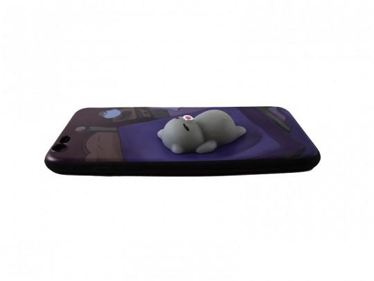 کاور طرح گربه خابالو نرمالو مناسب برای گوشی آیفون 6 plus