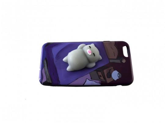 کاور طرح گربه خابالو نرمالو مناسب برای گوشی آیفون 6G/6S