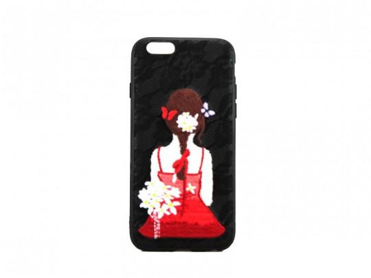 کاور طرح دختر گلدوزی شده مناسب برای گوشی موبایل آیفون 6/6S