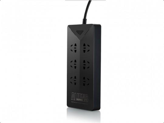 چند راهی برق و هاب USB ریمکس مدل RU-S4