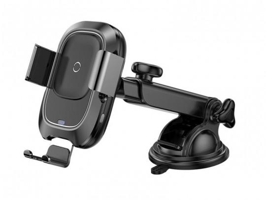 پایه نگهدارنده و شارژر وایرلس گوشی موبایل بیسوس مدل  Smart Vehicle Bracket Wireless Charger (Adsorption