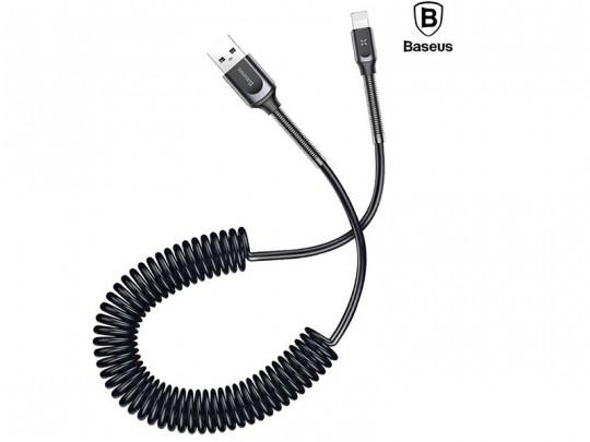 کابل تبدیل USB به لایتنینگ بیسوس مدل Double Spring Data Cable