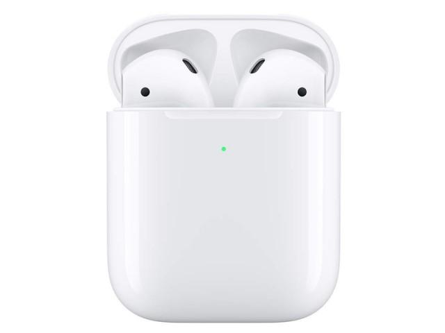 هدفون بی سیم ایر پاد 2 با کیس شارژ وایرلس اپل مدل AirPods 2 with Wireless Charging Case