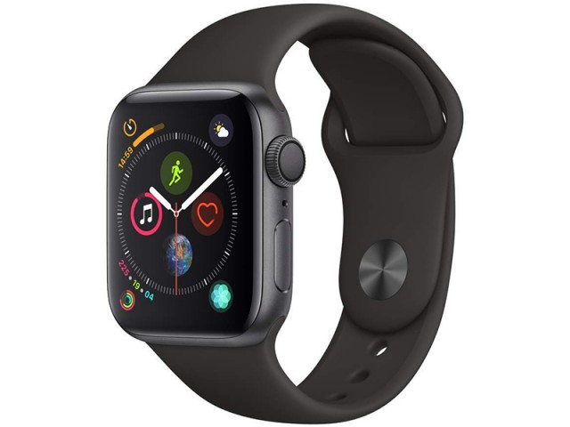 ساعت هوشمند اپل واچ سری 4 مدل 40mm Space Gray Aluminum Case with Black Sport Band
