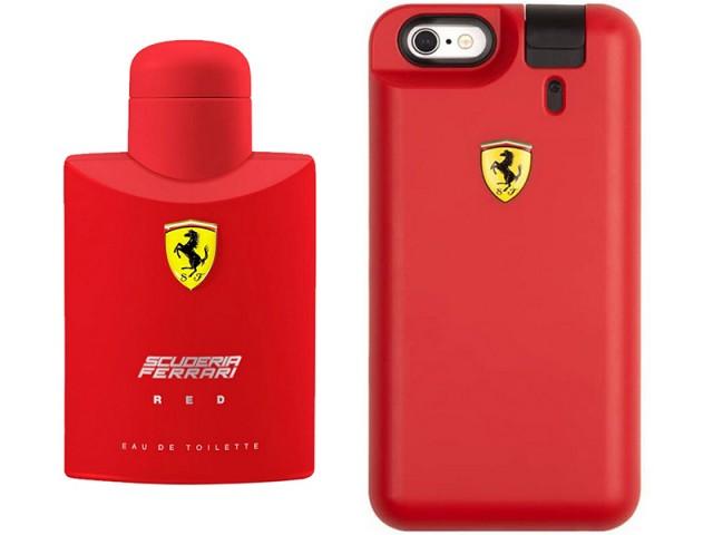 کاور فراری مدل  Scuderia Red Cover مناسب برای گوشی موبایل آیفون 6 همراه با عطر ادوتویلت مردانه با حجم 50 میلی لیتر