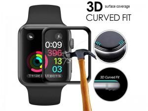 محافظ صفحه نمایش تمام چسب ترتل برند مدل TB-IWA40-BK 3D Glass مناسب برای ساعت هوشمند اپل واچ 40mm