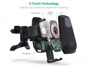 پایه نگهدارنده و شارژ وایرلس گوشی موبایل راو پاور مدل RP-SH010 Wireless Charging Car Holder