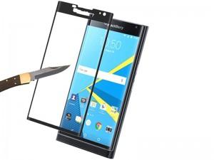 محافظ صفحه نمايش تمام چسب مدل Full Cover 3D Glass مناسب برای گوشی موبايل بلک بری Priv