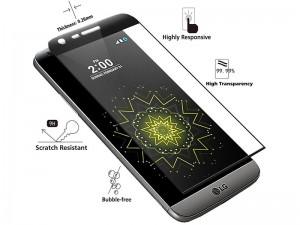 محافظ صفحه نمايش تمام چسب مدل Full Cover 4D Glass مناسب برای گوشی موبايل ال جی G5