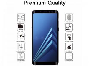 محافظ صفحه نمايش تمام چسب کوکوک مدل 4D Rounded Edges مناسب برای گوشی موبايل سامسونگ A8 Plus