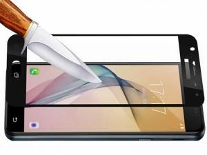 محافظ صفحه نمايش تمام چسب مدل Full Glass مناسب برای گوشی موبايل سامسونگ J5 Pro