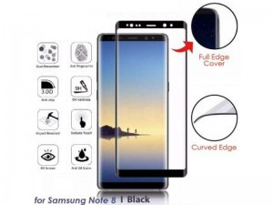 محافظ صفحه نمايش تمام چسب کوکوک مدل 4D Rounded Edges مناسب برای گوشی موبايل سامسونگ Note 8