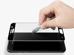 محافظ صفحه نمايش تمام چسب کوکوک مدل 4D Rounded Edges مناسب برای گوشی موبايل سامسونگ A3 2017