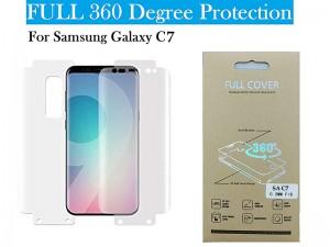 برچسب نانو صفحه نمايش جلو و پشت گوشی مدل Full Cover مناسب برای گوشی موبایل سامسونگ C7