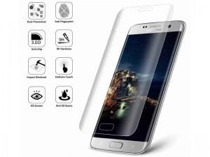 محافظ صفحه نمايش تمام چسب کوکوک مدل 4D Rounded Edges مناسب برای گوشی موبايل سامسونگ S7 Edge