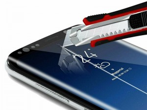 محافظ صفحه نمايش تمام چسب کوکوک مدل 4D Rounded Edges مناسب برای گوشی موبايل سامسونگ S9