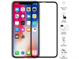 محافظ صفحه نمايش تمام چسب مدل Tempered Glass مناسب برای گوشی موبايل آیفون X