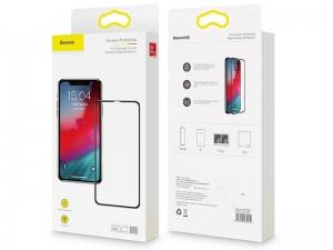 محافظ صفحه نمايش بیسوس مدل Full Coverage Curved Tempered Glass Protector مناسب برای گوشی موبایل آیفون Xs Max