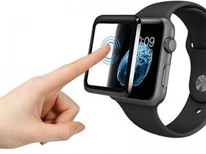 محافظ صفحه نمایش تمام چسب کوتچی مدل CS2213 4D iWatch Glass مناسب برای ساعت هوشمند اپل واچ 42mm