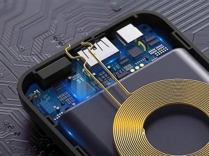 پاور بانک 10000 میلی آمپر وایرلس بیسوس مدل Mini S Bracket Wireless Charger