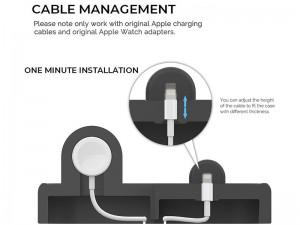 پایه شارژ دو کاره آها استایل مدل PT56 مناسب برای شارژ همزمان آیفون و اپل واچ