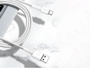 کابل شارژ و انتقال داده تایپ سی بیسوس مدل Mini White