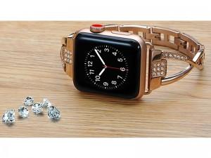 بند فلزی ساعت کوتچی مدل W18 Diamond Elegant WH5228-TS مناسب برای اپل واچ 42 میلیمتری