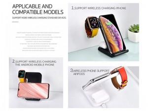 شارژر بی سیم سه کاره کوتچی مدل WS-18 مناسب برای شارژ گوشی، ایرپاد و اپل واچ