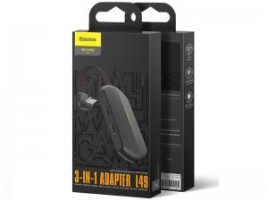 مبدل سه کاره تایپ سی مخصوص بازی بیسوس مدل GAMO Game 3-IN-1 Adapter L49